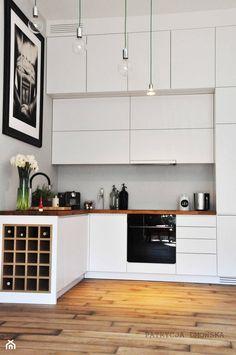 mokotów - Mała otwarta kuchnia w kształcie litery l w aneksie, styl nowoczesny - zdjęcie od DMOWSKA DESIGN