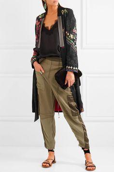 ETRO Embroidered Satin-jacquard Jacket