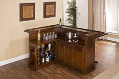 With a warm brown cherry finish and black footrest this bar has classic styling The wine rack which holds up to 12 bottles cabinets and drawers provide ample storage space Made of solid hardwoods with cherry veneers 350 Transitions for Explaindio Never Say Later Private Label Rights Never Say... more details available at https://furniture.bestselleroutlets.com/game-recreation-room-furniture/home-bar-furniture/bar-wine-cabinets/bar-cabinets/product-review-for-hillsdale-furnitu
