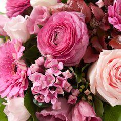 Bouquet rond en camaïeu de rose