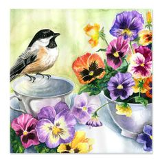CafePress Chickadee and Pansies Shower Curtain - Standard White CafePress,http://www.amazon.com/dp/B00I9YCL42/ref=cm_sw_r_pi_dp_nzultb1T9BHWC3ZR