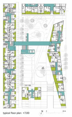 Gallery of Urban Block Competition Proposal / Architects - 8 - Architecture Daily Architecture Plan, Residential Architecture, Architecture Details, Architecture Portfolio, Classical Architecture, Sustainable Architecture, Hotel Floor Plan, Social Housing, Site Plans