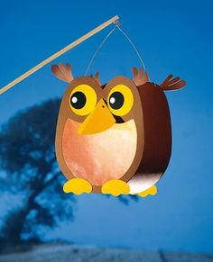 Owl Lantern - for Winter Lantern Parade Owl Crafts, Diy And Crafts, Arts And Crafts, Paper Crafts, Owl Lantern, Lantern Craft, Cute Origami, Origami Rose, Fete Saint Martin