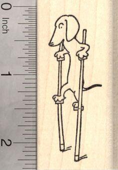 Dachshund on Stilts Rubber Stamp  by Rubberhedgehog