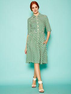 People Tree Orla Kiely Birdwatch Shirt Dress. My favourite dress in the world!