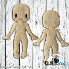FREE ITH Felt Doll Body embroidery design