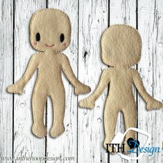 FREE ITH Felt Doll Body embroidery design