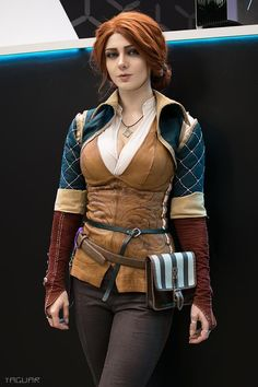 Character: Triss Merigold of Maribor / From: Andrzej Sapkowski's 'The Witcher' Short Stories and Novels & CD Projekt RED's 'The Witcher' Video Game Series / Cosplayer: Ksenia Shelkovskaya (aka Mellu's cosplay - Xenia Shelkovskaya, aka xeniash) / Photo: Ya