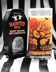 Halloween Orange Hot Chocolate drink