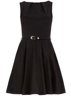 Black jacquard flared dress, $89.00, #DorothyPerkins