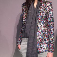 When you have a sequin jacket this good, you don't need much else. J.Crew fall 2015