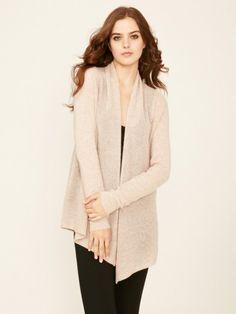 75cadfebf8e 100% Cashmere Shawl Collar Mesh Knit Cardigan-Cashmere 1873.COM