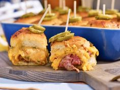 Get Sunny's Meaty Cheesy Casserole Sliders Recipe from Food Network