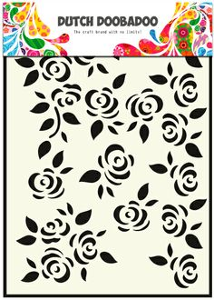 470.715.022 Dutch Doobadoo Mask Art Roses 1 st.