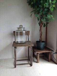 ■■昭和レトロ ガラス瓶 駄菓子屋 キッチン 大■■_画像1