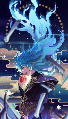 Hades, Twisted Disney Princesses, Anime Blue Hair, Character Art, Character Design, Estilo Anime, Blue Flames, Manga Boy, Cute Anime Guys