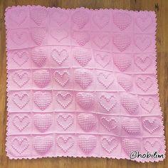 Crochet Bedspread Pattern, Granny Square Crochet Pattern, Crochet Blanket Patterns, Diy Crafts Knitting, Diy Crafts Crochet, Crochet Bobble Blanket, Baby Girl Crochet, Knitted Baby Blankets, Bubble
