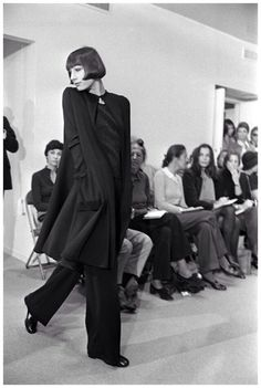 angelica huston models halston by pierre schermann, 1973