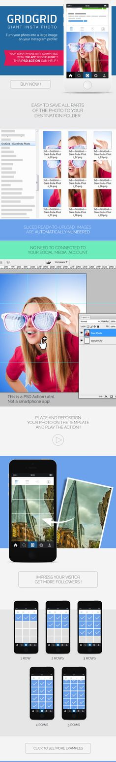 GRIDGRID – Photoshop Action to Create Giant Photo for Instagram Profile