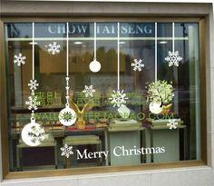 Papel del arte del vinilo Decal Sticker decoración de cristal bola navidad ventanas balcón pavanas a cuadros pegatinas de pared 41 en Pegatinas de pared de Hogar y Jardín en AliExpress.com | Alibaba Group