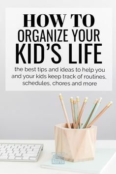 Read on to see how to organize your kids' schedules, chores, and activities. Everything you need to know about kids organization tips is in this guide. Office Supply Organization, Home Office Organization, Garage Organization, Organizing Your Home, Organizing Tips, Organization Ideas, Organized Mom, Getting Organized, Kids Planner