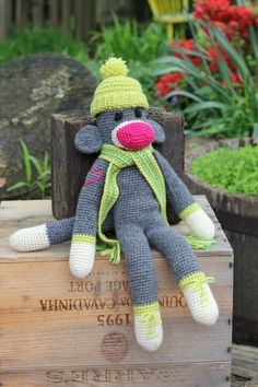 sock monkey - free pattern