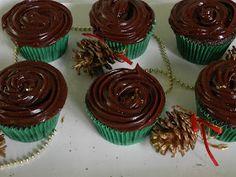 Cupcakes de chocolate com ganache