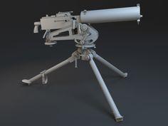 ArtStation - M1917 Browning Machine Gun, Nam Nguyen