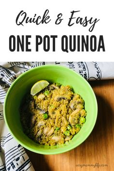 One Pot Quinoa: Basi
