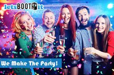 """Make your event just a little more exciting and memorable. With a booth from Lets Booth It, you will """"Make The Party"""". Photo booth rentals are perfect for many occasions: - #Anniversaries - Award #Ceremonies - #Birthday #Parties - Company/Corporate #Events - #Conventions - #Dances - #Carnivals - #Fundraisers - #Graduations - #Holiday Parties - #Proms - #Quinceaneras - #Retreats - #Reunions - #Weddings Receptions & Showers"""