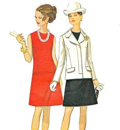 1960s Dress Pattern Butterick 5414 Mod Sleeveless by paneenjerez, $12.00
