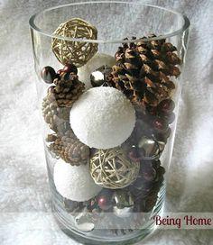 vaso ornamentale per Natale fai da te  #vaso #ornamentale #natale #faidate