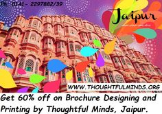 Now save up to 60% on ordering brochure designing and printing in Jaipur from Thoughtful Minds. Get corporate brochures of exceptional quality in one day.