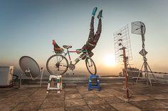 Mountain biker stunt guru by Osborne Macharia.
