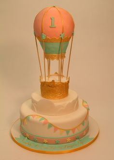 Ana Parzych Cakes A hot air balloon-themed cake for a first birthday