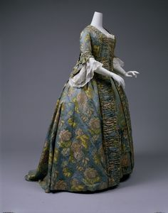 Robe á la Française ca. 1750 via The Costume Institute of The Metropolitan Museum of Art