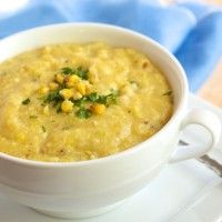 Corn soup, Roasted corn and Main courses on Pinterest