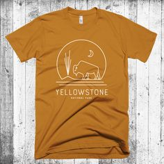 Yellowstone T-shirt, Yellowstone National Park, Bison Geyser Tshirt, Hipster Modern T-shirt, Camping T-shirt, National Park Gift by CityandSky on Etsy https://www.etsy.com/listing/478646063/yellowstone-t-shirt-yellowstone-national