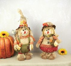 These adorable standing farmer scarecrows are the perfect way to decorate your home for fall! Everyone loves scarecrows, especially when they are this cute!