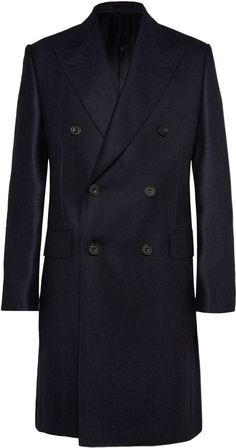 Double Breasted Overcoat Mens, Mens Wool Overcoat, Navy Overcoat, Double Breasted Coat, Mens Evening Wear, Suit Fashion, Mens Fashion, Mens Clothing Styles, Stylish Men
