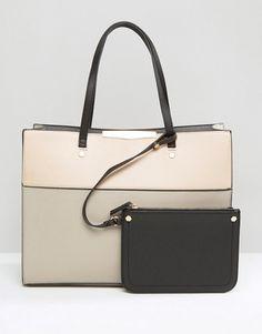 New Look | Bolso shopper con diseño en dos tonos de New Look