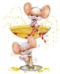 tubes souris - Page 13 Illustration Mignonne, Cute Illustration, Christmas Pictures, Christmas Art, Art Mignon, Mouse Pictures, Mouse Crafts, Hamster, Cute Mouse