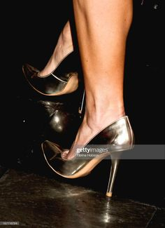 Candace Cameron Bure (shoe detail) attends the Junior League of Los Angeles Casino Angeleno night at Petersen Automotive Museum on April 27, 2013 in Los Angeles, California. (Photo by Tibrina Hobson/FilmMagic) Beautiful Females, Beautiful One, Pumps Heels, Stiletto Heels, Candace Cameron Bure, April 27, Mouths, Kitten Heels, Museum
