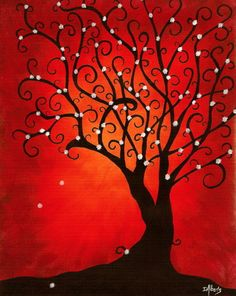 Tree Art. If only i didnt hate the color red. Maybe blue?