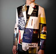 Illustration of NYTimes 10 Best Books of 2011 done as a jacket. Very clever!