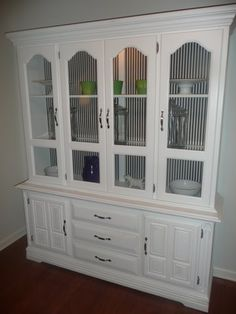 refinished china cabinet (halloween) | holiday decorations