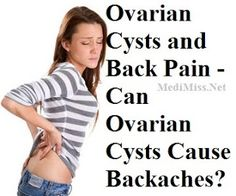 Can Ovarian Cysts Cause Backaches?  oh hells yes it do!