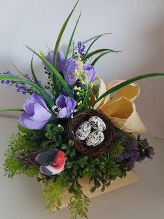 Diy Easter Decorations, Rustic Gardens, Bunt, Paper Flowers, Floral Arrangements, Floral Wreath, Wreaths, Dom, Spring