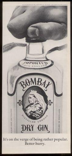 Bombay gin #vintage #ad