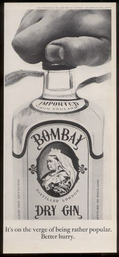 Vintage gin ad
